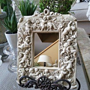 EXQUISITE Shabby CHERUB Angel ACCENT Mirror OH MY